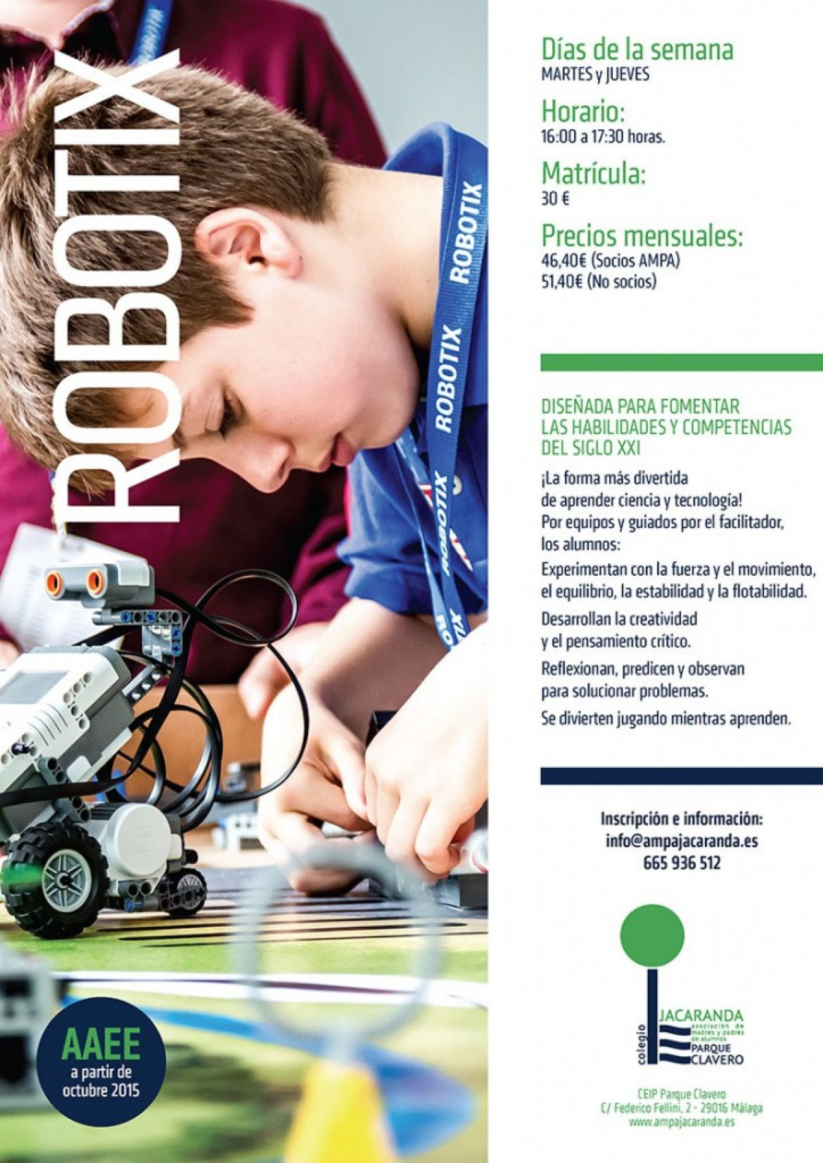 Nuevo grupo de Lego Robotix lunes y miércoles