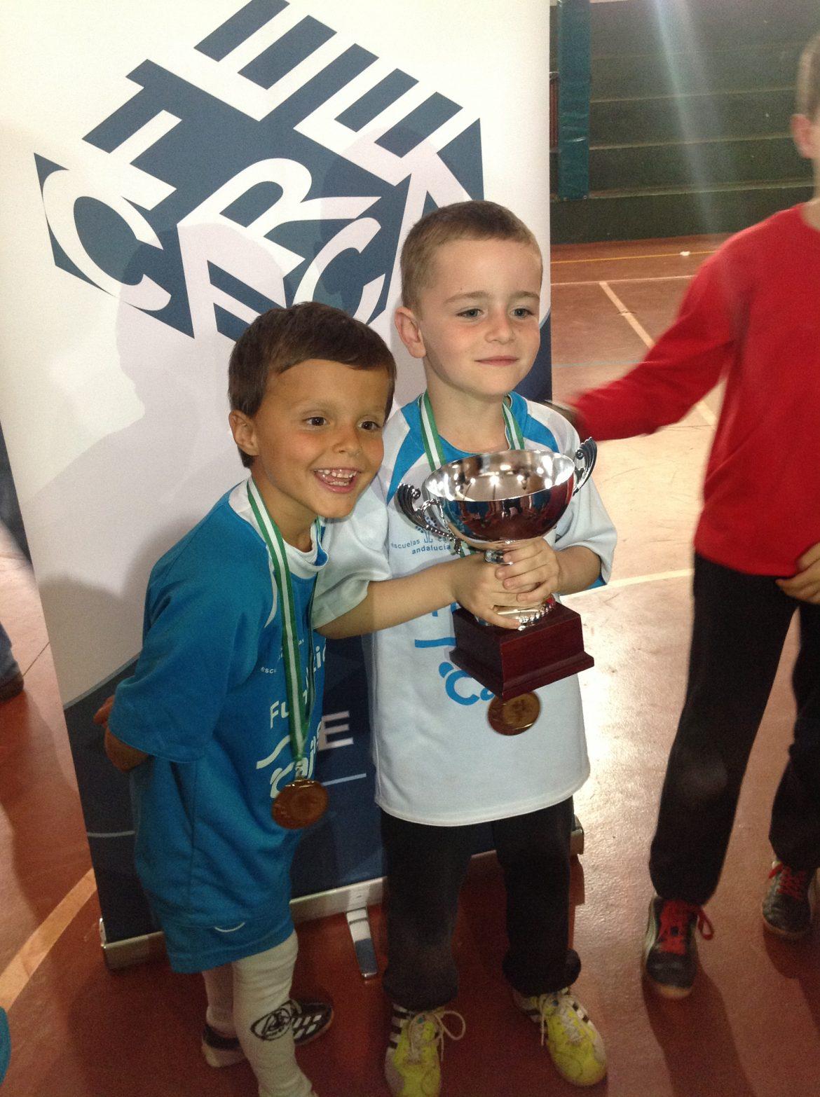 Parque Clavero Campeón de Fútbol Sala en la categoría PreBenjamin