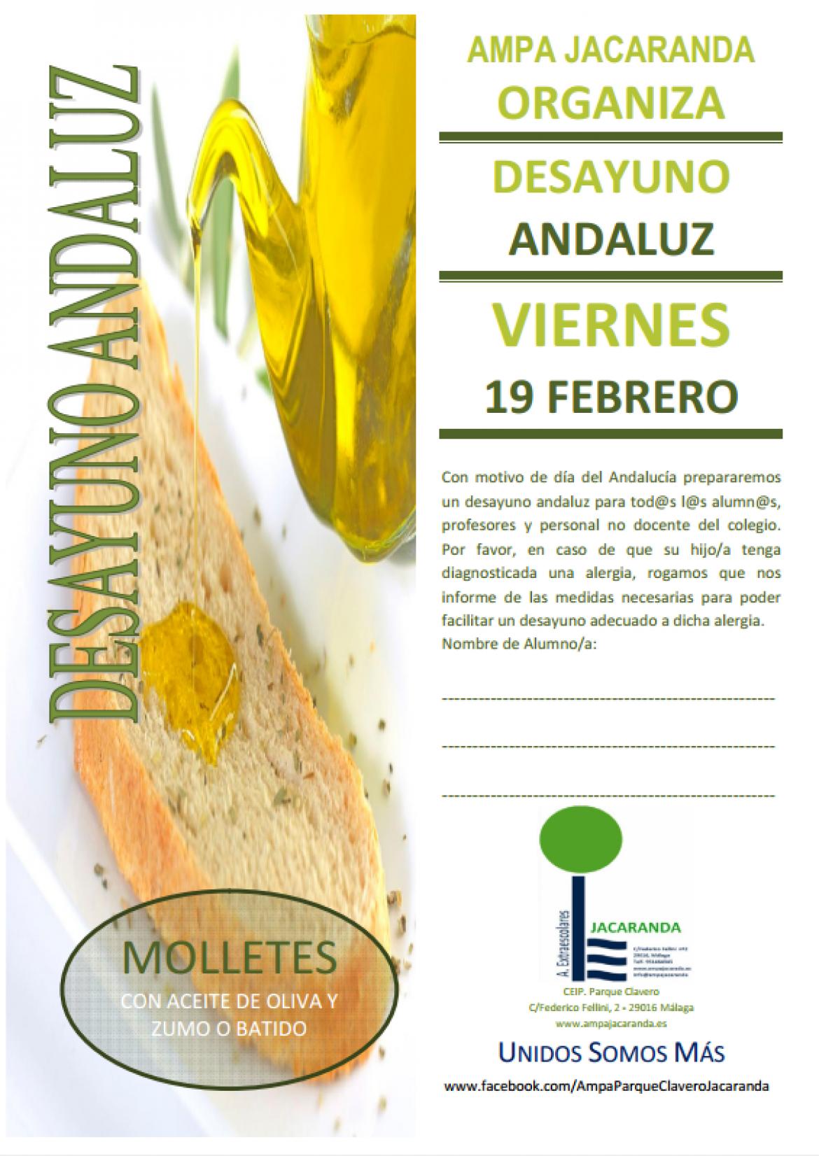 Desayuno Andaluz 19 de febrero de 2021